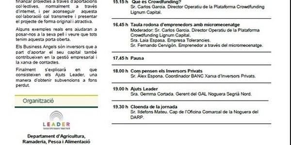 Jornada PATT: Finançament per a empreses rurals