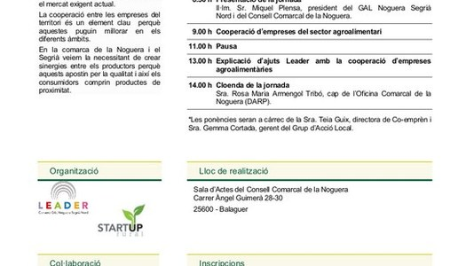Jornada PATT per fomentar la cooperació d'empreses del sector agroalimentari