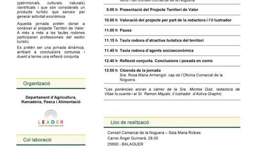 """Jornada tècnica sobre """"Activitats per fidelitzar clients en els allotjaments rurals"""" al Consell Comarcal de la Noguera"""