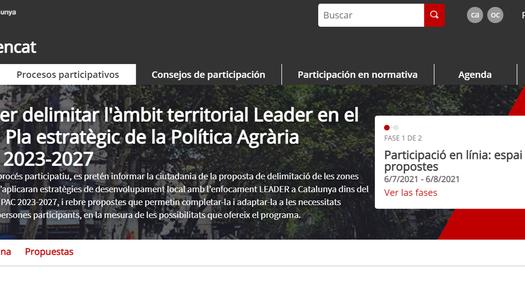 Obert el procés de participació per delimitar l'àmbit territorial Leader 2023-2027