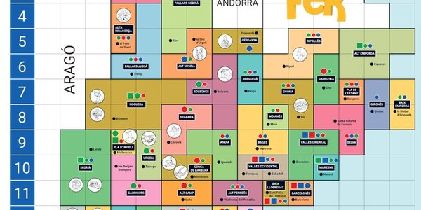 Mapa de Catalunya del projecte FER